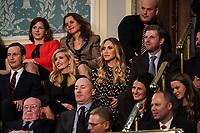 FEBRUARY 5, 2019 - WASHINGTON, DC: Jared Kushner, Ivanka Trump, Lara Trump, and Eric Trump during the State of the Union address at the Capitol in Washington, DC on February 5, 2019. <br /> Credit: Doug Mills / Pool, via CNP