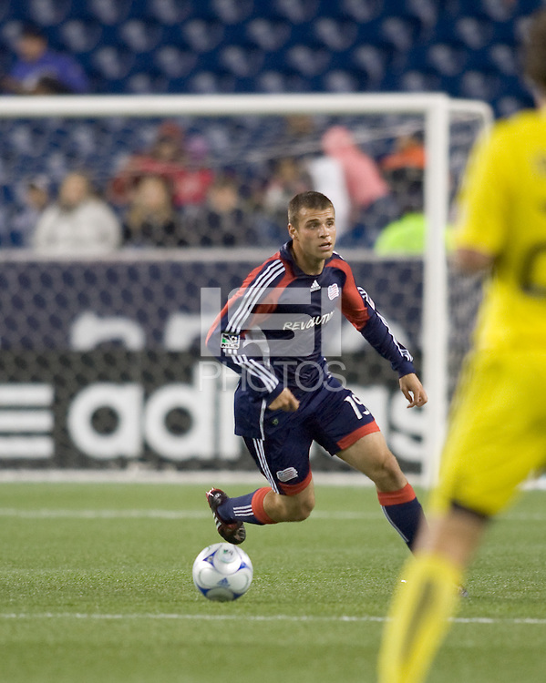 New England Revolution midfielder Michael Videira (19). The Columbus Crew defeated the New England Revolution, 1-0, at Gillette Stadium on October 10, 2009.