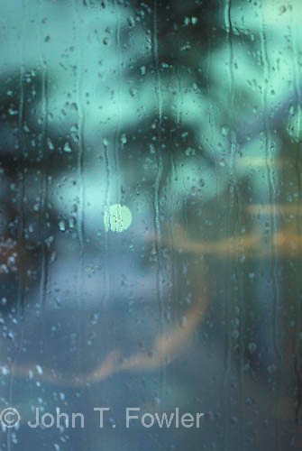 Rain on window Flowing water pattern concept