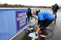 Photo: Richard Lane/Richard Lane Photography. GE Strathclyde Park Triathlon Media Event. 30/03/2011. Last year's elite women's winner, Jacqueline Slack.