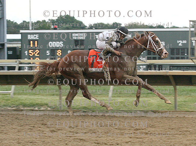 Will Take Charge #7 with Luis Saez riding won the $1,000,000 Pennsylvania Derby at Parx Racing in Bensalem, Pennsylvania September 21, 2013.  Photo By Barbara Weidl / EQUI-PHOTO