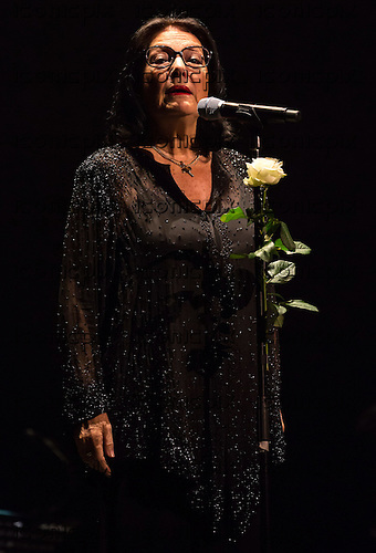NANA MOUSKOURI- performing live on her 805h Birthday Tour at The Royal Albert Hall in London UK - 25 September 2014 .  Photo credit: Iain Reid/IconicPix