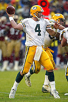 Brett Favre In an NFL game played at 3 Comm Park where the Green Bay Packers beat the San Francisco 49ers 20-14