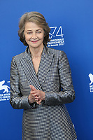 "Charlotte Rampling at the ""Hannah"" photocall, 74th Venice Film Festival in Italy on 8 September 2017.<br /> <br /> Photo: Kristina Afanasyeva/Featureflash/SilverHub<br /> 0208 004 5359<br /> sales@silverhubmedia.com"
