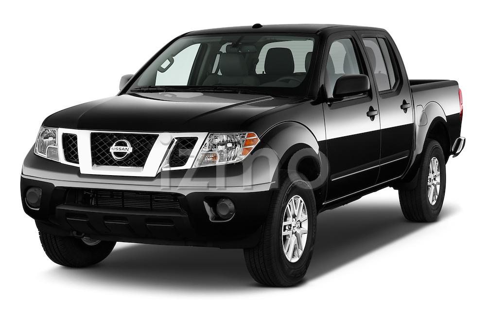 2016 Nissan Frontier SV 4 Door Pick-up Angular Front stock photos of front three quarter view