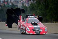 Mar. 11, 2012; Gainesville, FL, USA; NHRA funny car driver Cruz Pedregon during the Gatornationals at Auto Plus Raceway at Gainesville. Mandatory Credit: Mark J. Rebilas-