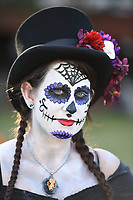 FORT LAUDERDALE FL - NOVEMBER 02: Cosplayer during the Day Of The Dead Festival at Revolution on November 02, 2017 in Fort Lauderdale, Florida. Credit: mpi04/MediaPunch /NortePhoto.com