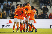 19th November 2019, Stadion De Vijverberg, Doetinchem, Netherlands; U-21 International football freindly, Netherlands versus England;  Netherlands celebrating their goal for 2-1