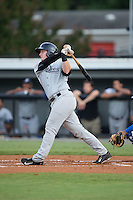 Austin Afenir (39) of the Pulaski Yankees follows through on his swing against the Burlington Royals at Burlington Athletic Park on August 6, 2015 in Burlington, North Carolina.  The Royals defeated the Yankees 1-0. (Brian Westerholt/Four Seam Images)
