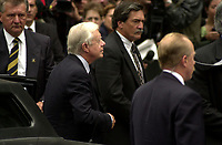 Former US President Jimmy Carter<br /> was attending the funeral of former Canadian Prime Minister, the Honorable Pierre Eliott Trudeau  held at the Notre-Dame Basilica in Montreal (QuÈbec, Canada) on October 10th, 2000.