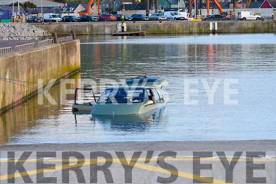 The Renault Espace car that was almost fully emerged in the sea at Dingle Pier on Monday.<br /> View 2 Related Assets