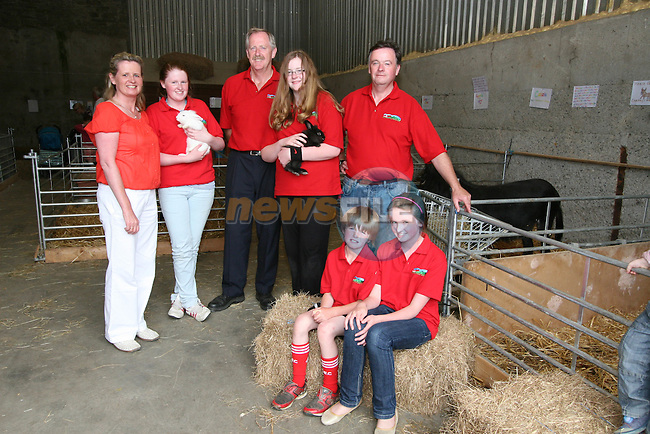 David and Aimee Kennedy with Henry, Liz, Helen, Sarah and Phillip Fee at the Opening of The Red Mountain Open Farm...Photo NEWSFILE/Jenny Matthews.(Photo credit should read Jenny Matthews/NEWSFILE)....This Picture has been sent you under the condtions enclosed by:.Newsfile Ltd..The Studio,.Millmount Abbey,.Drogheda,.Co Meath..Ireland..Tel: +353(0)41-9871240.Fax: +353(0)41-9871260.GSM: +353(0)86-2500958.email: pictures@newsfile.ie.www.newsfile.ie.FTP: 193.120.102.198.