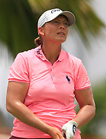 Angela Stanford (USA) in action on the 12th during Round 1 of the HSBC Womens Champions 2018 at Sentosa Golf Club on the Thursday 1st March 2018.<br /> Picture:  Thos Caffrey / www.golffile.ie<br /> <br /> All photo usage must carry mandatory copyright credit (&copy; Golffile | Thos Caffrey)