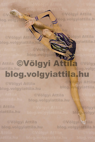 Daria Dmitrieva (RUS) performs with the ball during the final of the 2nd Garantiqa Rythmic Gymnastics World Cup held in Debrecen, Hungary. Sunday, 07. March 2010. ATTILA VOLGYI