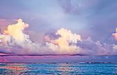 Couchant sur la grande barrière de corail