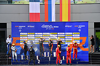 #26 G DRIVE RACING (RUS) ORECA 07 GIBSON LMP2 ROMAN RUSINOV (RUS) ANDREA PIZZITOLA (FRA) JEAN ERIC VERGNE (FRA) WINNER OVERALL<br /> #29 DUQUEINE ENGINEERING (FRA) ORECA 07 GIBSON LMP2 PIERRE RAGUES (FRA) NICOLAS JAMIN (FRA) NELSON PANCIATICI (FRA)SECOND OVERALL<br /> #24 RACING ENGINEERING (ESP) ORECA 07 GIBSON LMP2 NORMAN NATO (FRA) OLIVIER PLA (FRA) PAUL PETIT (FRA) THIRD OVERALL
