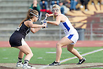Torrance, CA 05/09/13 - Talia Fiance (Agoura #7) and Rachel Julius (Oak Park #19) in action during the 2013 Los Angeles area Girls Varsity Lacrosse Championship.  Agoura defeated Oak Park 13-7.