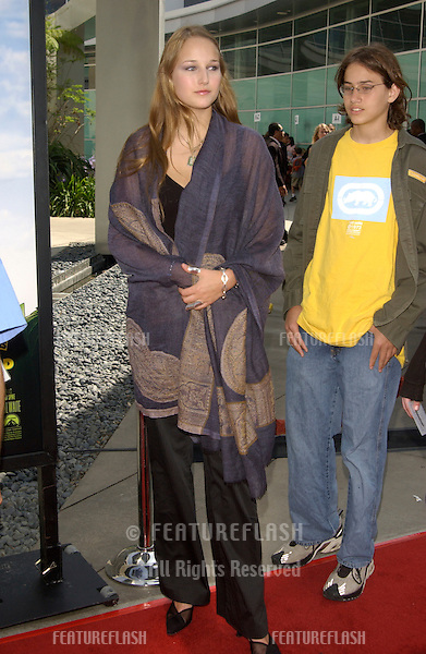 Actress LEELEE SOBIESKI & brother ROBY SOBIESKI at the Los Angeles premiere of Rugrats Go Wild..June 1, 2003