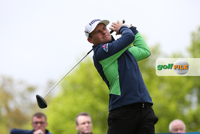 Tyrrell Hatton (ENG) driving from the 9th during Round One of the 2016 Dubai Duty Free Irish Open Hosted by The Rory Foundation which is played at the K Club Golf Resort, Straffan, Co. Kildare, Ireland. 19/05/2016. Picture Golffile | David Lloyd.<br /> <br /> All photo usage must display a mandatory copyright credit as: &copy; Golffile | David Lloyd.
