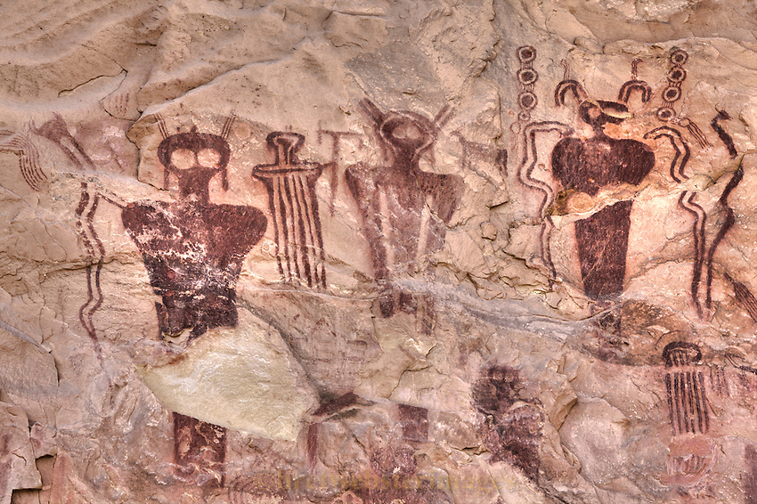 The beautiful and remarkable Barrier Creek Style pictographs of Sego Canyon.