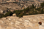 Israel, Jerusalem, The Jewish cemetery on the Mount of Olives<br />