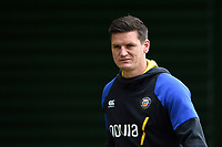 Freddie Burns of Bath Rugby looks on prior to the match. Gallagher Premiership match, between Bath Rugby and Wasps on May 5, 2019 at the Recreation Ground in Bath, England. Photo by: Patrick Khachfe / Onside Images