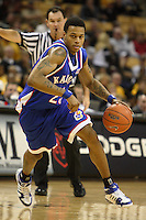Kansas guard Brandon Rush in action during the second half against the Tigers at Mizzou Arena in Columbia, Missouri on February 10, 2007. The Jayhawks won 92-74.