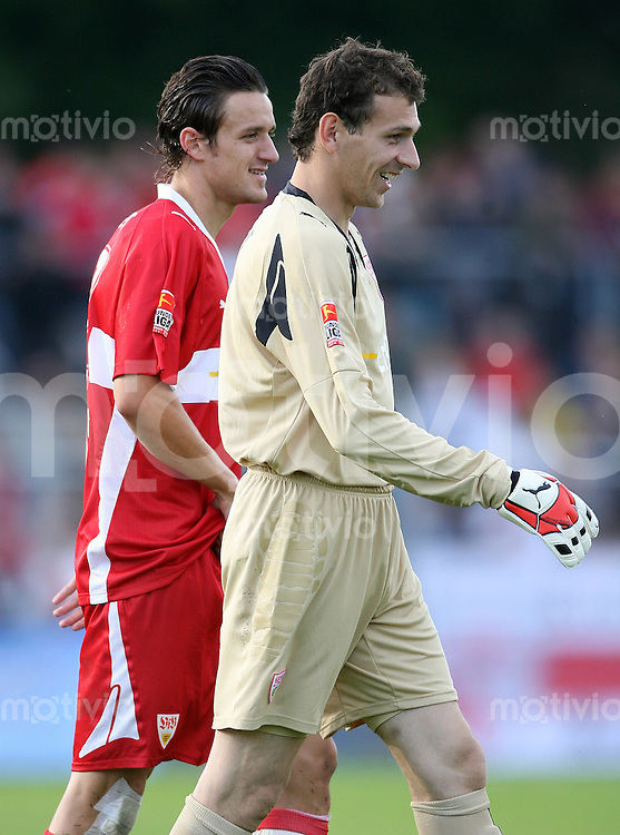 Fussball     1. Bundesliga Saison    2007/2008 Raphael SCHAEFER (re) und Christian GENTNER (li, beide VfB Stuttgart)