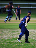 Action from the New Zealand Secondary Schools 1st XI girls' cricket national finals match between Tawa College and St Hilda's Collegiate at Fitzherbert Park in Palmerston North, New Zealand on Sunday, 3 December 2017. Photo: Dave Lintott / lintottphoto.co.nz