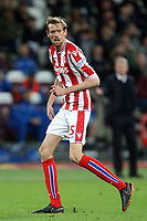 Peter Crouch of Stoke City during West Ham United vs Stoke City, Premier League Football at The London Stadium on 16th April 2018