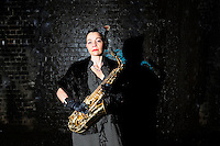 Cosmic Ray and the Constellations<br /> Photo shoot<br /> Manchester<br /> <br /> Katherine Rogers - Saxophone and backing vocals