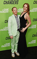 "HOLLYWOOD, CA - SEPTEMBER 04: Ryan Stafford (L) and Dr. Regan Stiegmann attend the LA Premiere Of ""The Game Changers"" at ArcLight Hollywood on September 04, 2019 in Hollywood, California.<br /> CAP/ROT/TM<br /> ©TM/ROT/Capital Pictures"