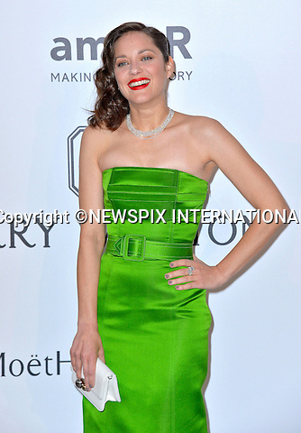 12.05.2015, Antibes; France: MARION COTILLARD<br /> attends the Cinema Against AIDS amfAR gala 2015 held at the Hotel du Cap, Eden Roc in Cap d'Antibes.<br /> MANDATORY PHOTO CREDIT: &copy;Thibault Daliphard/NEWSPIX INTERNATIONAL<br /> <br /> (Failure to credit will incur a surcharge of 100% of reproduction fees)<br /> <br /> **ALL FEES PAYABLE TO: &quot;NEWSPIX  INTERNATIONAL&quot;**<br /> <br /> Newspix International, 31 Chinnery Hill, Bishop's Stortford, ENGLAND CM23 3PS<br /> Tel:+441279 324672<br /> Fax: +441279656877<br /> Mobile:  07775681153<br /> e-mail: info@newspixinternational.co.uk