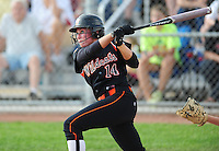 Wildcats senior, Kirsten Brose, homers in the bottom of the 3rd to score the winning run, as Verona tops La Crosse Central 2-0 in Division 1 softball semifinals at Firefighters Park in Middleton, Wisconsin on Friday, 6/11/10