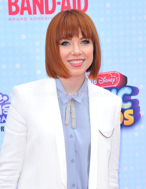 WWW.ACEPIXS.COM<br /> <br /> April 25 2015, LA<br /> <br /> Carly Rae Jepsen arriving at the 2015 Radio Disney Music Awards at Nokia Theatre L.A. Live on April 25, 2015 in Los Angeles, California.<br /> <br /> By Line: Peter West/ACE Pictures<br /> <br /> <br /> ACE Pictures, Inc.<br /> tel: 646 769 0430<br /> Email: info@acepixs.com<br /> www.acepixs.com