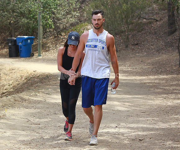 September 7 2014 Beverly Hills CA Lea Michele and Matthew Paetz doing some hiking at Three People Hiking in Beverly Hills John Misa / MediaPunch