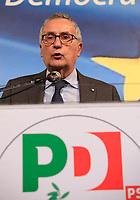 Europee 2019 Manifestazione elettorale del Pd con  il segretario Nicola Zingaretti <br /> il Capolista regionale Franco Roberti
