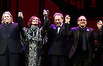 Christopher Hampton, Glenn Close, Andrew Lloyd Webber and Lonny Price during the Opening Night Curtain Call bows for Andrew Lloyd Webber's 'Sunset Boulevard' at the Palace Theatre on February 9, 2017 in New York City.