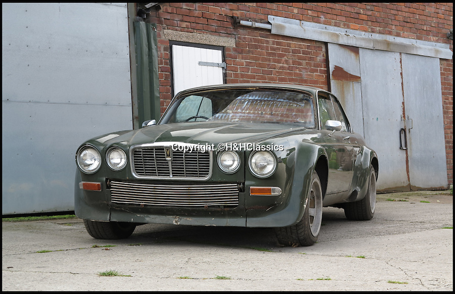 BNPS.co.uk (01202 558833)<br /> Pic: H&HClassics/BNPS<br /> <br /> John Steed's Broadspeed Jag is coming up for auction - but unfortunately the iconic motor looks like its had one to many run-ins with the New Avengers villains.<br /> <br /> The V12 Jaguar driven by dashing secret agent John Steed in the cult 1970s show The New Avengers has emerged for sale for £12,000 after it was discovered languishing in a barn.<br /> <br /> The 1976 racing green Jaguar XJ12 was one of the stars of the show alongside Patrick Macnee who played Steed, Joanna Lumley as Purdey and Gareth Hunt as Gambit, a team of plucky crime-fighting Brits.<br /> <br /> The beefed-up motor was among the best known cars on television in its time and was snapped up by a collector once the series ended in 1977.<br /> <br /> However it disappeared from public view in the mid 1990s and was considered 'lost' until it emerged recently having spent the last 20 years rotting in a lock-up.