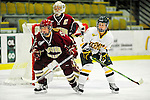 16 October 2010: University of Vermont Catamount forward Chelsea Rapin (right), a Junior from Walled Lake, MI, looks for a centering pass against the Boston College Eagles at Gutterson Fieldhouse in Burlington, Vermont. The Lady Cats fell to the visiting Eagles 4-1 in the second game of their weekend series. Mandatory Credit: Ed Wolfstein Photo