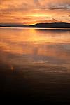 Sunset at Flathead Lake, Montana, USA