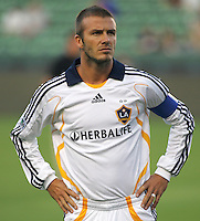 LA Galaxy captain & midfielder David Beckham (23). CD Chivas USA defeated the LA Galaxy 3-0 in the Super Classico MLS match at the Home Depot Center in Carson, California, Thursday, August 23, 2007.