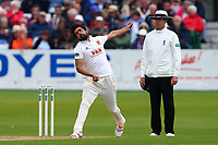 Mohammad Amir in bowling action for Essex during Yorkshire CCC vs Essex CCC, Specsavers County Championship Division 1 Cricket at Scarborough CC, North Marine Road on 7th August 2017