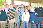 Michael Kennealy of Fine Gael celebrating with family and supporters after being elected in Listowel on Saturday. at the Listowel Town Council Elections counting centre on Saturday.