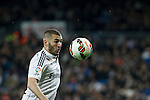 Real Madrid´s Karim Benzema during La Liga match at Santiago Bernabeu stadium in Madrid, Spain. March 15, 2015. (ALTERPHOTOS/Victor Blanco)