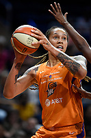 Washington, DC - July 30, 2019: Phoenix Mercury center Brittney Griner (42) makes a move to the basket during first half action of game between the Phoenix Mercury and Washington Mystics at the Entertainment & Sports Arena in Washington, DC. (Photo by Phil Peters/Media Images International)
