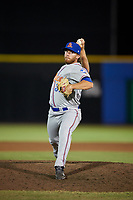 St. Lucie Mets relief pitcher Cameron Griffin (39) delivers a pitch during a game against the Dunedin Blue Jays on April 19, 2017 at Florida Auto Exchange Stadium in Dunedin, Florida.  Dunedin defeated St. Lucie 9-1.  (Mike Janes/Four Seam Images)
