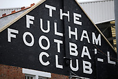 17th March 2018, Craven Cottage, London, England; EFL Championship football, Fulham versus Queens Park Rangers; Snow outside Craven Cottage