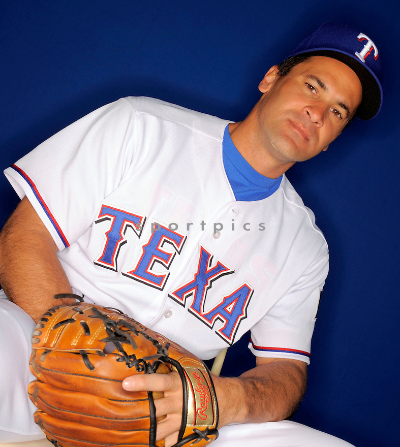 OMAR VIZQUEL, of the Texas Rangers, during photo day of spring training and the Ranger's training camp in Surprise, Arizona on February 24, 2009.