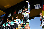 World Champion Peter Sagan (SVK) and Bora-Hansgrohe team on stage at the team presentation before the 116th edition of Paris-Roubaix 2018. 7th April 2018.<br /> Picture: ASO/Pauline Ballet | Cyclefile<br /> <br /> <br /> All photos usage must carry mandatory copyright credit (&copy; Cyclefile | ASO/Pauline Ballet)